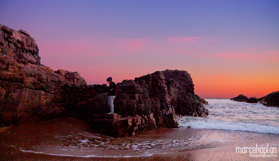 Atardecer en Las Grutas - Punta Ballena - Uruguay - Fotógrafo uruguayo Marce Kaplan | Fotografía Creativa